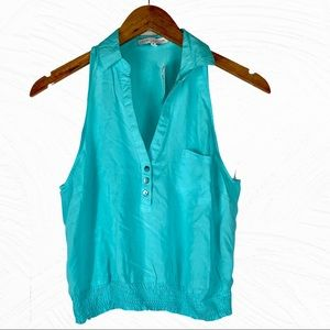 4/$25 New Love Culture Turquoise SleevelessTop M